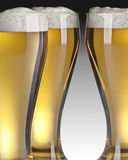 Three glasses of beer Stock Photos