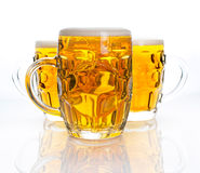 Three glasses of beer Royalty Free Stock Photography