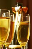 Three glasses with champagne Royalty Free Stock Images