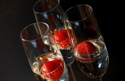 Three glasses of champagne Royalty Free Stock Photos