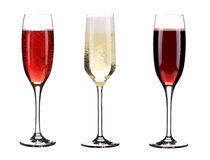 Three glasses of champagne. Stock Image