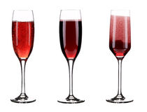 Three glasses of champagne. Royalty Free Stock Images