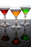 Three glasses of cocktail Stock Photos