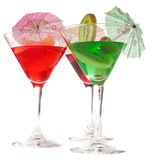 Three glasses of cocktails Royalty Free Stock Images