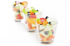 Three Glasses Of Fruit Salad Royalty Free Stock Photo