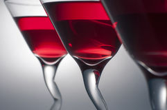 Three glasses of Red Martini. Ready to be serve Royalty Free Stock Photo