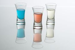 Three glasses of schnapps Royalty Free Stock Photography