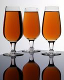 THREE GLASSES OF SHERRY royalty free stock images