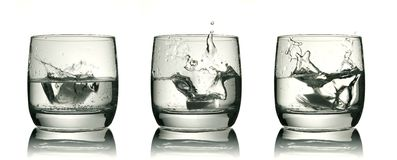 Three glasses Royalty Free Stock Photos