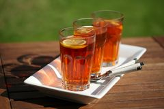 Three glasses of tea  Royalty Free Stock Photos
