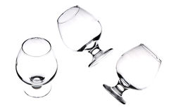 Three glasses for whiskey. Royalty Free Stock Photos