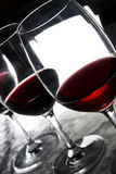 Three glasses of wine Stock Photography