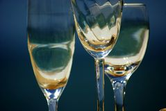 Three glasses of wine Royalty Free Stock Photography