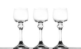 Three glasses of wine Royalty Free Stock Image