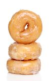 Three Glazed Donuts royalty free stock photography