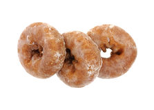 Three Glazed Donuts Stock Images