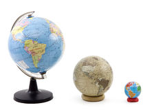 Three Globes Royalty Free Stock Photos