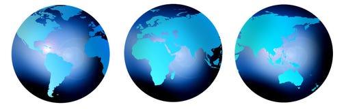 Three globes Stock Image