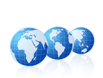 Three globes Royalty Free Stock Photography