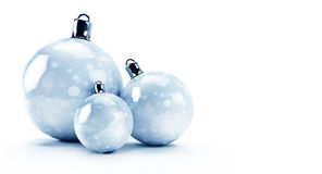 Three glossy Christmas balls Stock Image