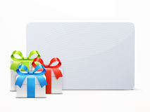 Three glossy gift boxes Royalty Free Stock Image