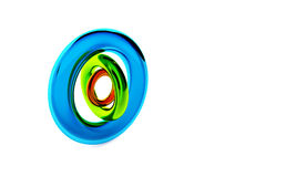 Three glossy transparent plastic circles Stock Photos