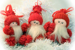 Three Gnomes Stock Images