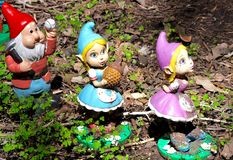 Three Gnomes: Gnomesville, Western Australia Royalty Free Stock Images