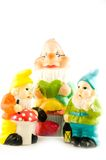 Three gnomes together Royalty Free Stock Photo