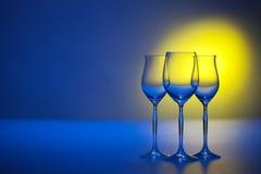 Three goblets Royalty Free Stock Photo