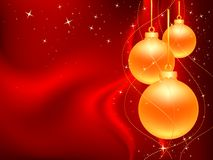 Three_gold_christmas_ball Stock Image