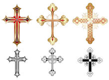 Three gold cross Stock Photos