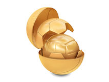 Three golden balls Stock Images