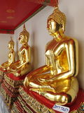 three golden buddha image Royalty Free Stock Photos