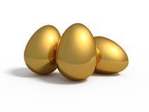 Three golden eggs Royalty Free Stock Photography