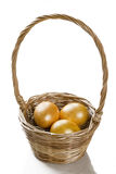 Three golden eggs Royalty Free Stock Photo