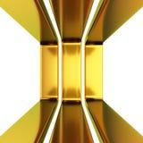 Three golden frames Stock Photos