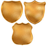 Three golden pattern knight board Royalty Free Stock Image