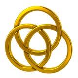 Three golden rings royalty free illustration