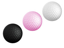 three Golf ball Royalty Free Stock Images