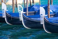 Three gondolas in a row Royalty Free Stock Image