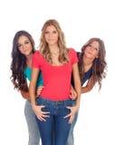 Three good girl friends Stock Photography