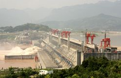 Three Gorge Dam photographie stock libre de droits