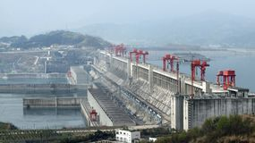 Three Gorge Dam en Chine photographie stock libre de droits