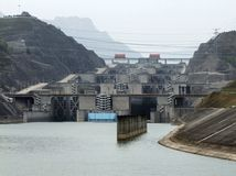 Three Gorge Dam i Kina Arkivbilder