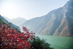 Three Gorges ущелья Yangtze River Valley Стоковое Изображение RF