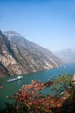 Three Gorges ущелья Yangtze River Valley Стоковые Изображения