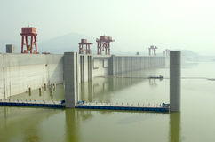 Three Gorges Dam. The Biggest Hydroelectric Power Station in China,Three gorges dam.Taken in Yichang city of China on Sep.4,2011 Stock Images