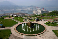 THREE GORGES DAM. On an exceptionally clear day Stock Images