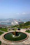 THREE GORGES DAM. On an exceptionally clear day Stock Photo